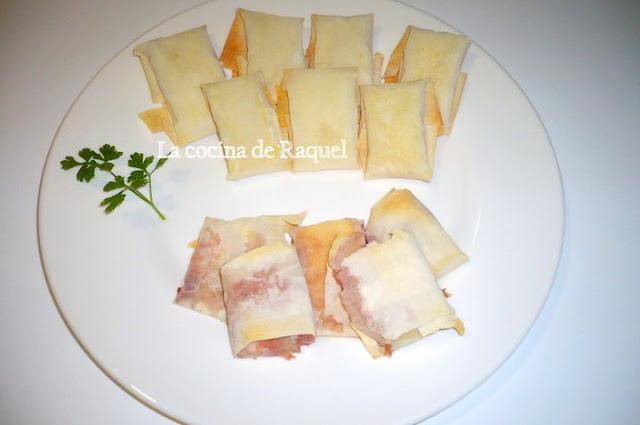 Paquetitos de camembert en filo - Que hacer con la pasta filo ...