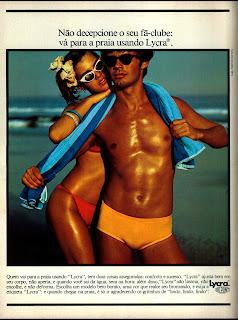 propaganda Lycra - 1977. Anos 70. moda anos 70; propaganda anos 70; história da década de 70; reclames anos 70; brazil in the 70s; Oswaldo Hernandez
