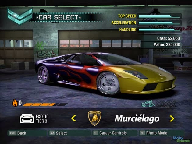 Need For Speed Carbon game cars