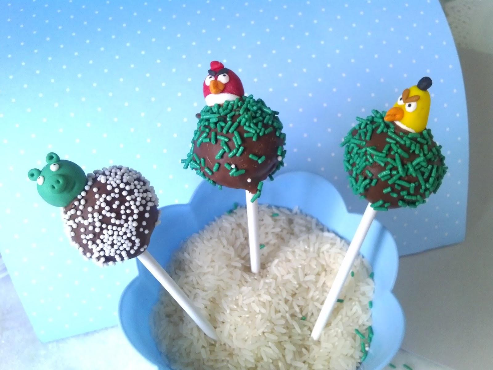 Belos caramelle cake pop angry birds for Cobertura para cake pops
