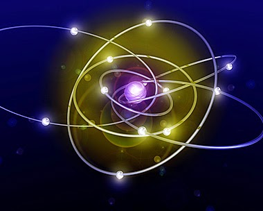 Atom and particles image