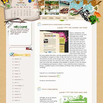 All You Can Enjoy Blogger Template. free download template blogspot