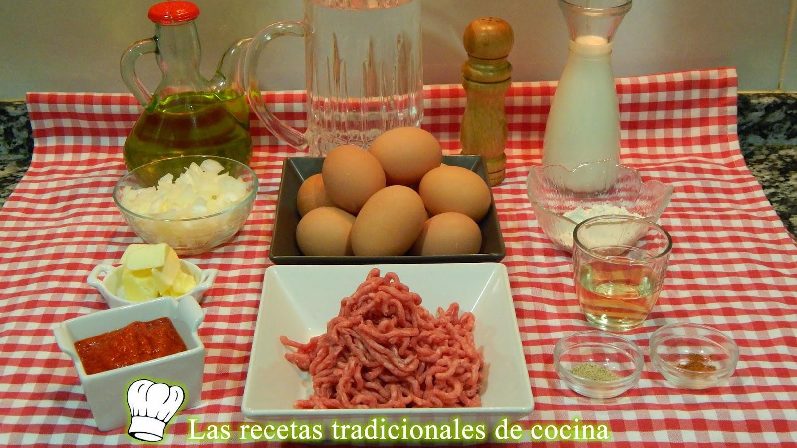 Receta Huevos rellenos de carne