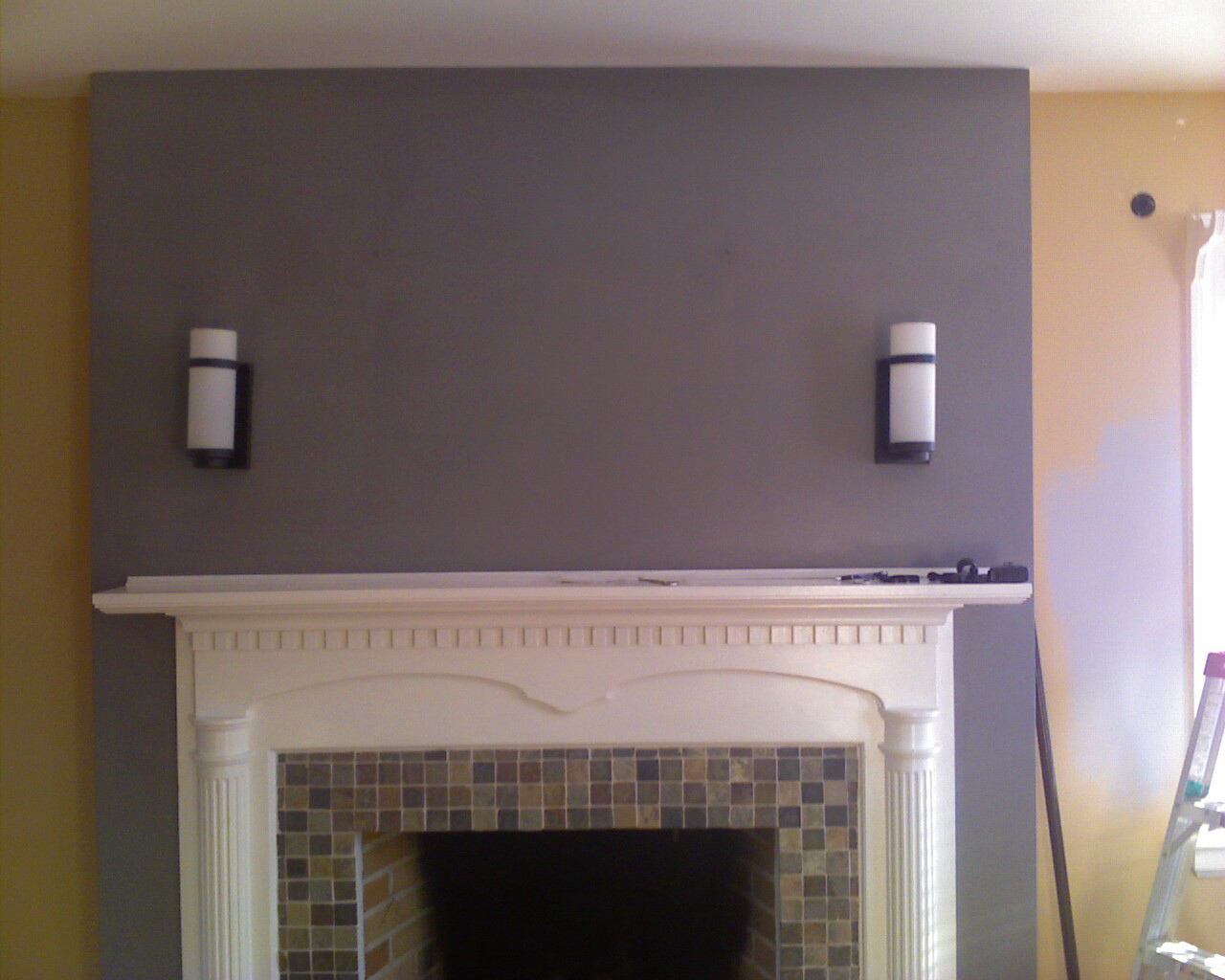 show off fireplace surround re do ct house first house