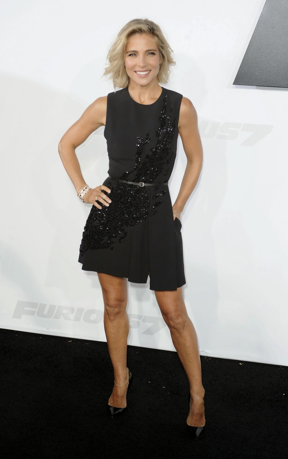 Elsa Pataky wears Elie Saab to the 'Furious 7' premiere in LA