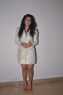 Tapsee Pannu Pictures in Mini Dress at King Tab Launch