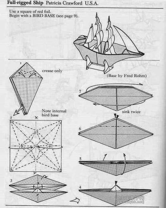 Как сделать корабль из бумаги с парусами