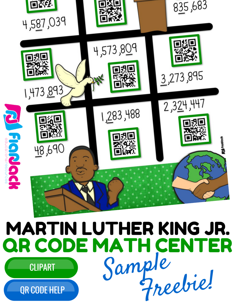http://www.teacherspayteachers.com/Product/Martin-Luther-King-Jr-Math-Rounding-QR-Code-Center-FREEBIE-1628531