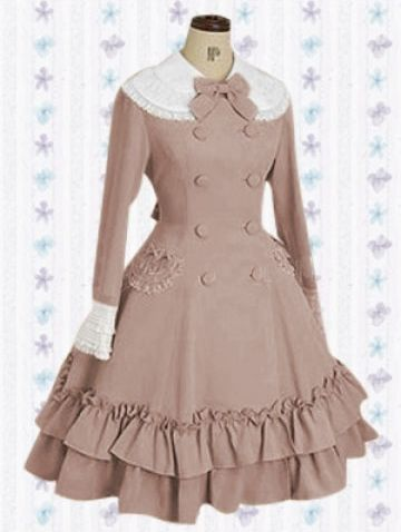 Autumn Classic Lace and Bow Lolita Dress