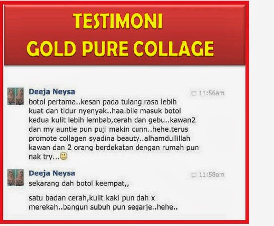 Testimoni Gold Pure Collegen