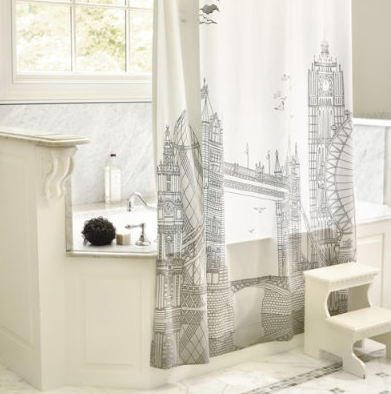 London Shower Curtain | Jet Set Girls