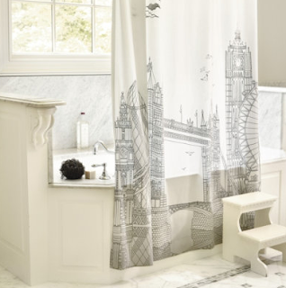 Ballard Designs London Shower Curtain