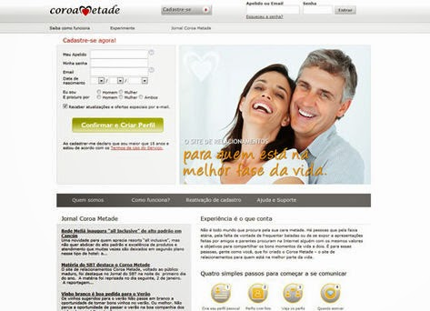 coroa metade gratuito gratis site online paquera relacionamento namoro encontro