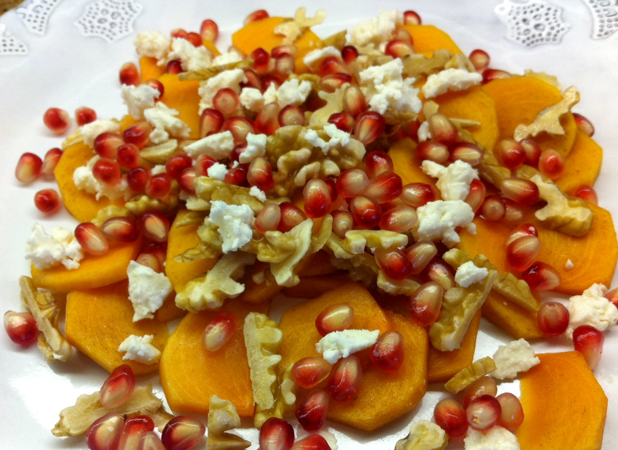 salad fall fruit and yogurt salad persimmon pomegranate fruit salad ...