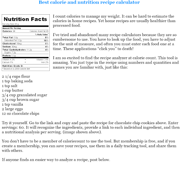Recipe Calorie Calculator