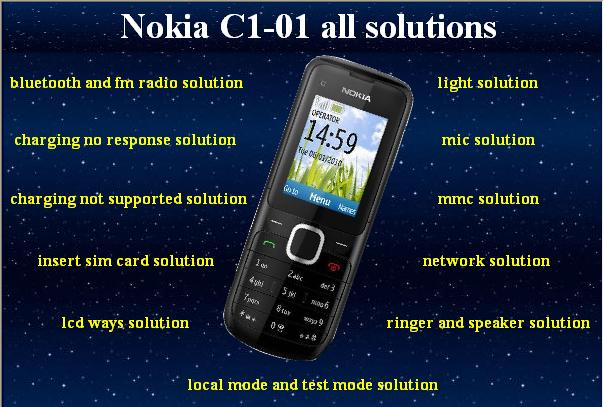nokia all solutions: program Nokia c1-01 all solutions