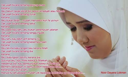 Puisi Luahan Hati Noor Dayana Buat Ashraf Muslim
