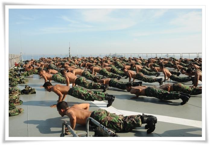 Marinir TNI-AL Bersiaga Hadapi Perang di Laut Cina Selatan