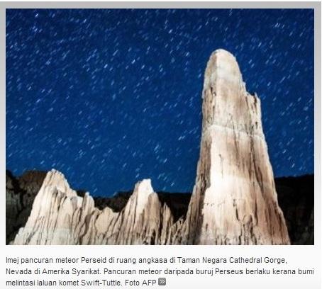 Gambar dan Video Hujan Meteor 12 Ogos 2013