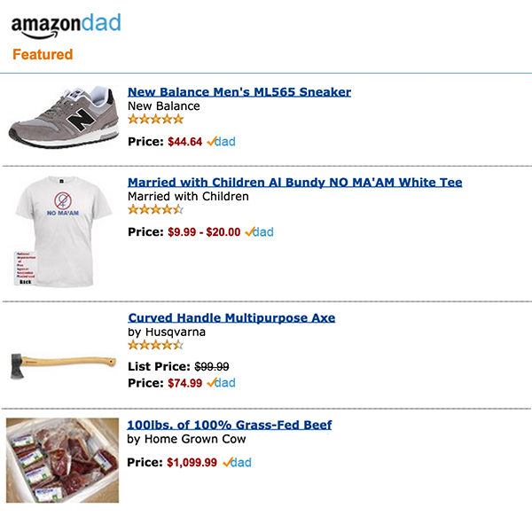 Amazon Dad, a companion program to Amazon Mom that reinforces traditional gender roles
