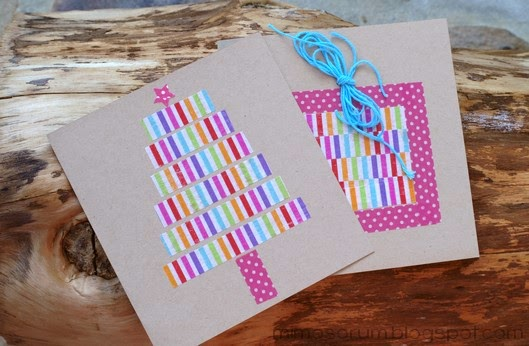 haz tus propias tarjetas de navidad con washitape