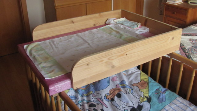 DIY Changing Table Crib Top