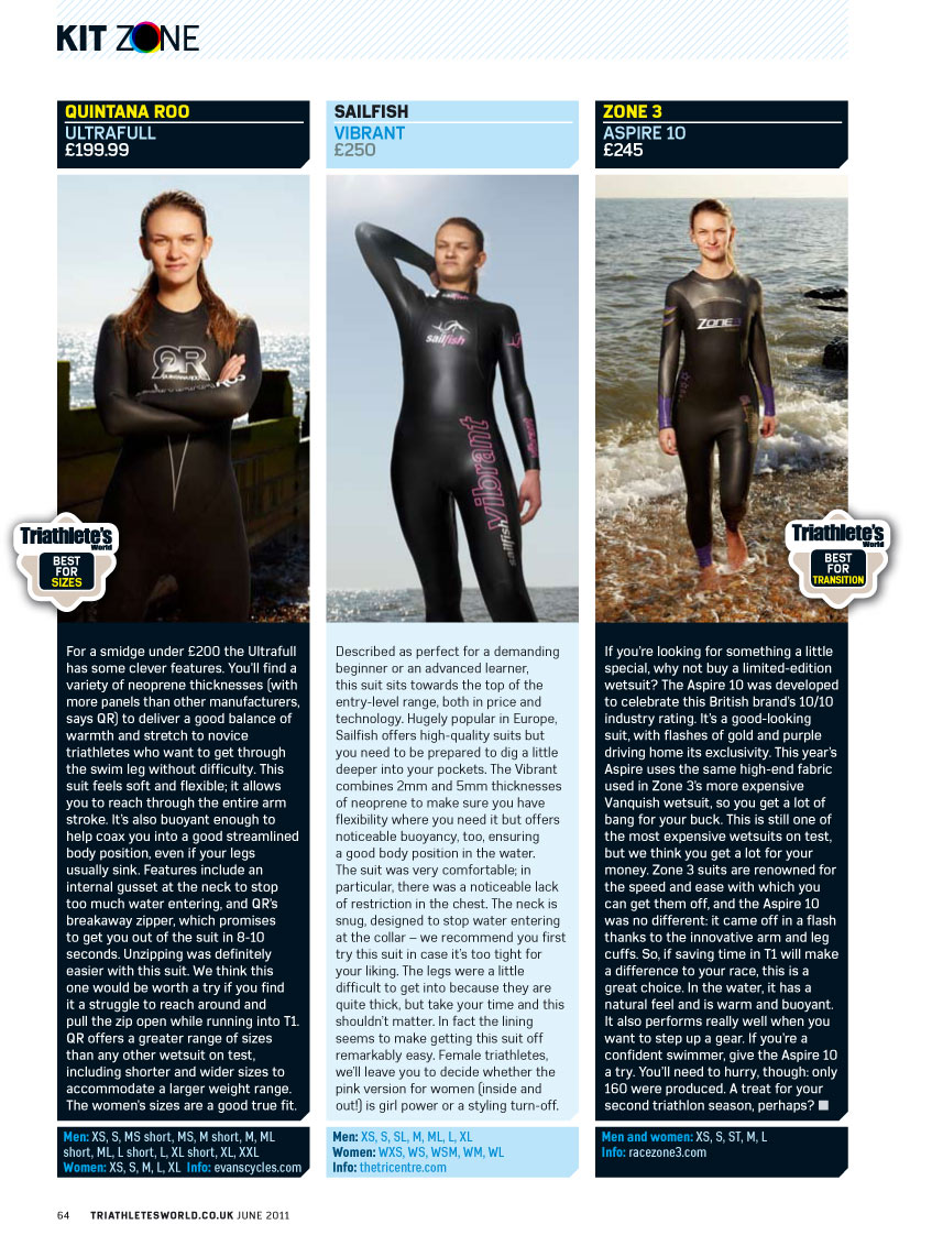 Review of Quintana Roo Hydrofull 2011 Short Wetsuit (Ex ...