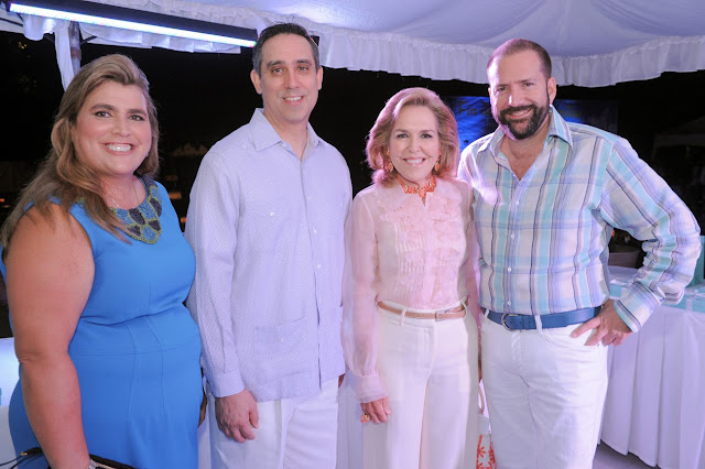 Executive Director of Fundación MIR Lyanne Azqueta, Group Director of Tiffany & Co. Henry Gonzalez, President and Founder of Fundación MIR Lian Fanjul de Azqueta, CEO of MGSCOMM Manuel Machado.