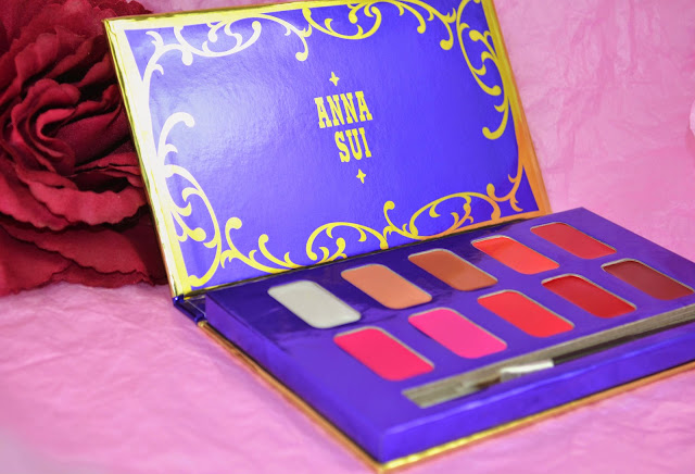 Anna Sui - Lip palette - lip color - Escentual - glitter - shimmer - high shine - gloss - lipstick - opaque - nude -pink -red - coral - lip colour