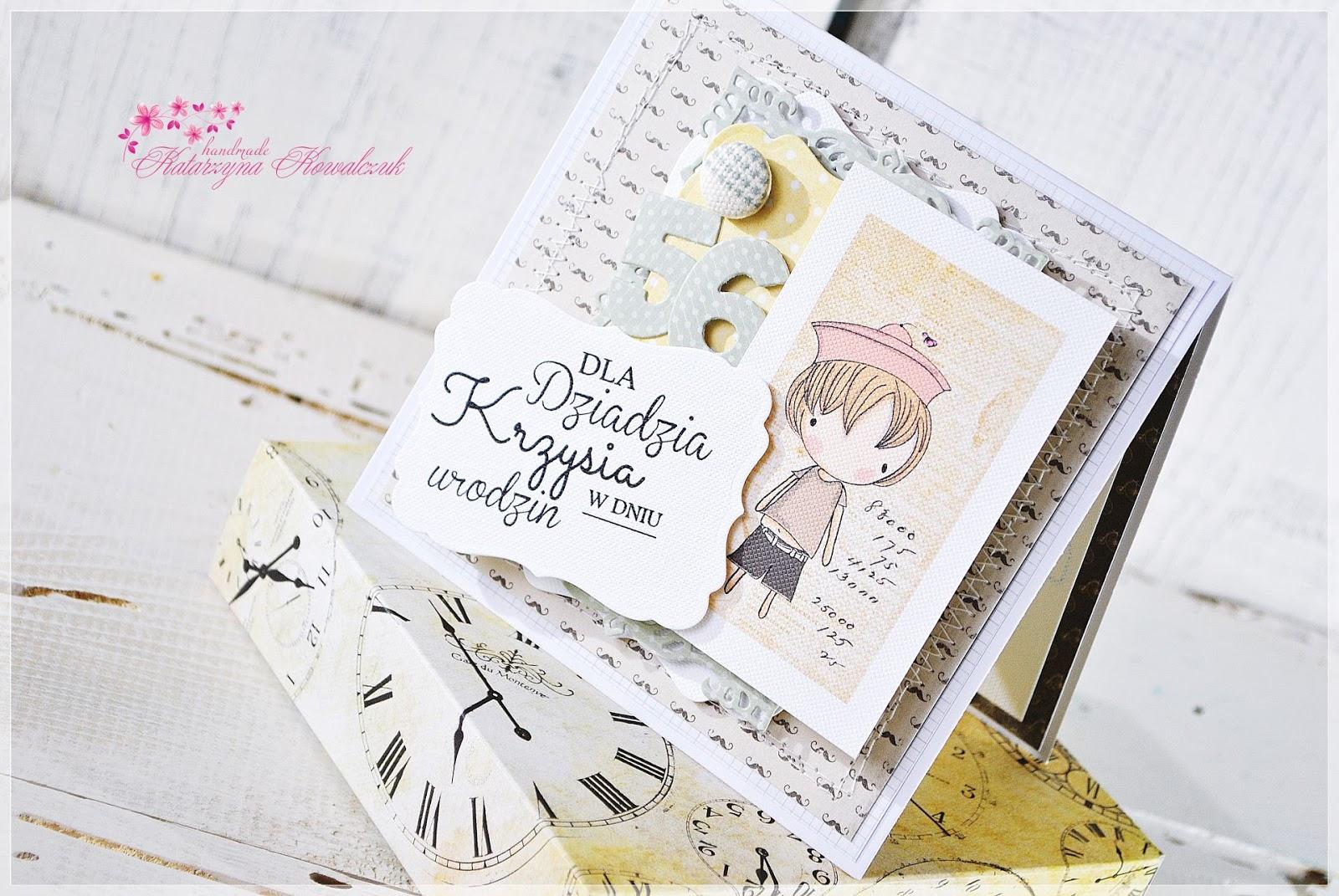 kartka urodzinowa z kopertą 3d scrapbooking