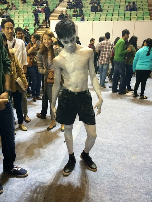 Boy from Grudge Delhi Comicon