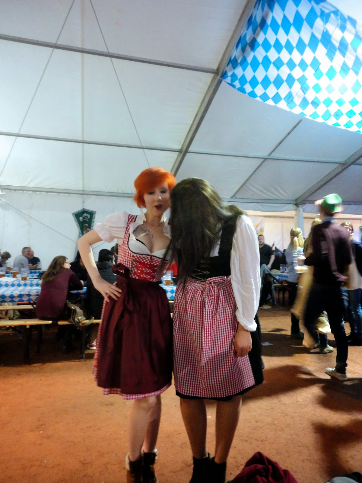 german dirndls traditional dress at edinburgh oktoberfest