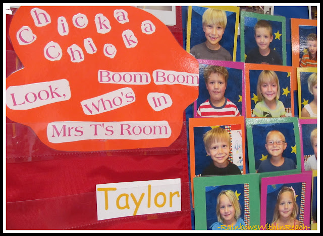Bulletin Board for Chick-Chicka Boom Boom via RainbowsWIthinReach