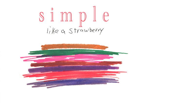 simple like a strawberry