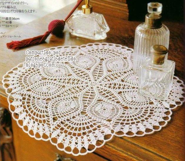 Doily pattern / Patrón de carpeta delicada