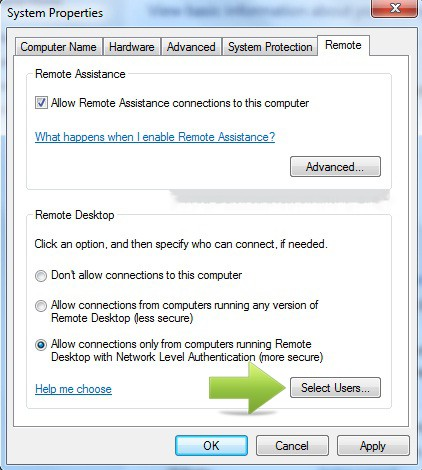 how to connect laptop to pc remotely