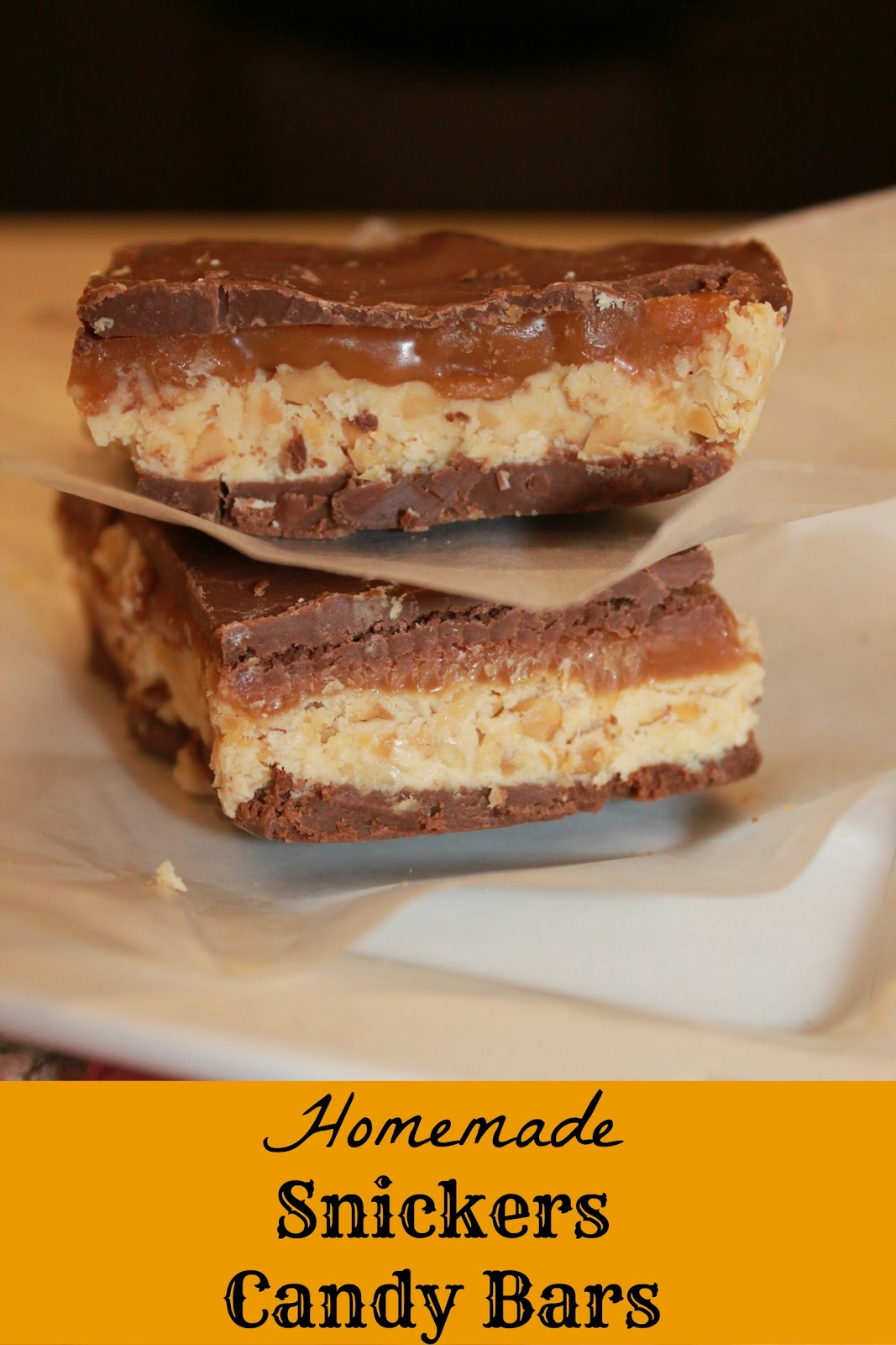 Ally's Sweet and Savory Eats: Homemade Snickers Candy Bars