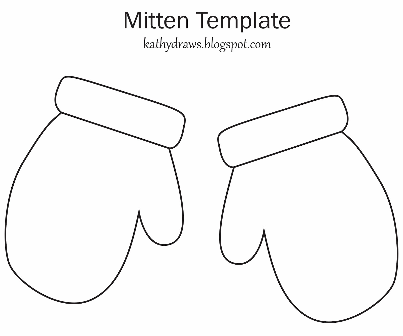 Mitten Template For Writing i 39 ve Made The Mitten Template