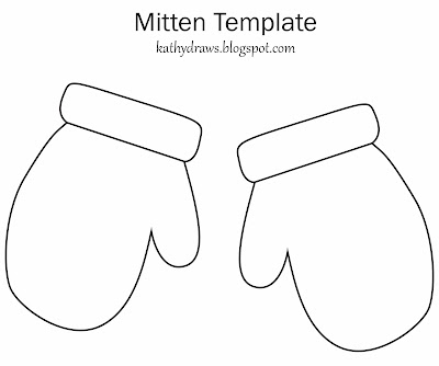Free Printable Mitten Template Colorings Net
