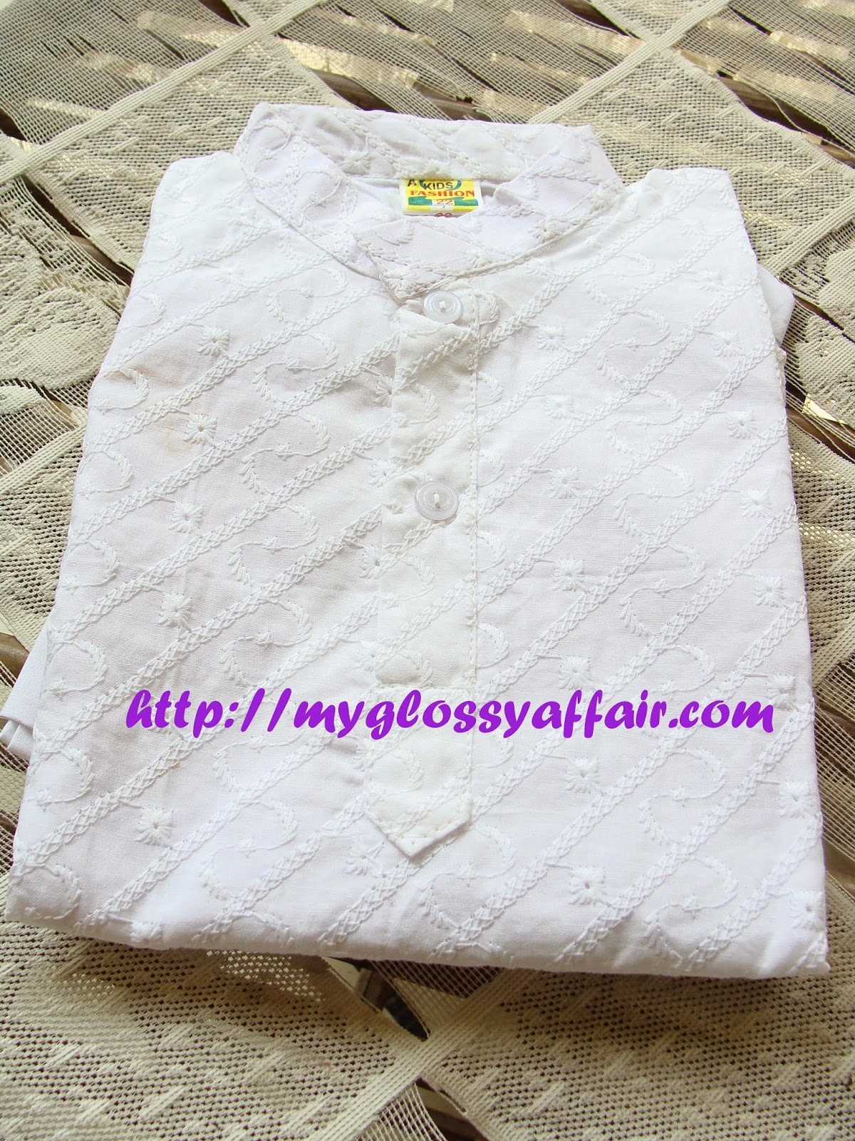 white kurta pajama for kids