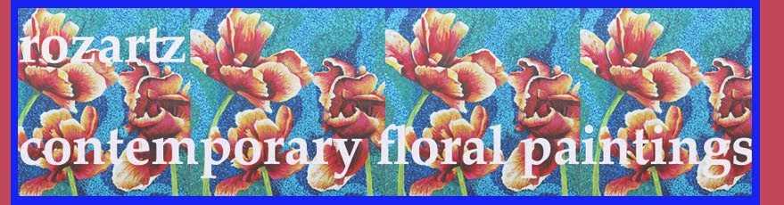 Rozartz Contemporary floral paintings