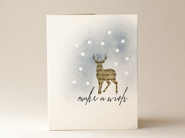 Masculine Card with Winter Woodland from Winnie & Walter by Sweet Kobylkin