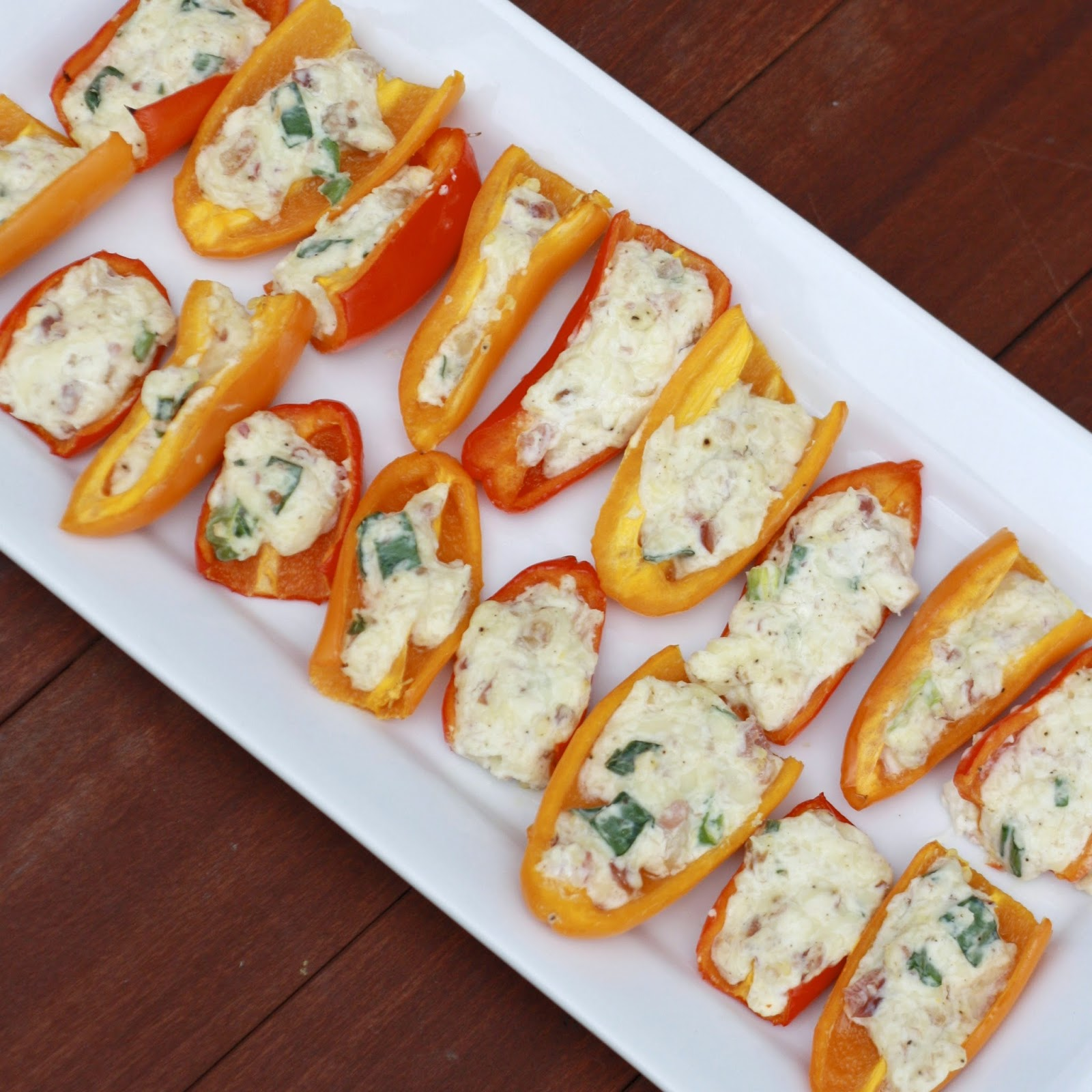 Bacon and Cheese Stuffed Peppers | The Sweets Life