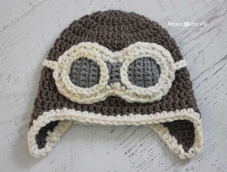 Crochet Me Free Patterns : Repeat Crafter Me: Crochet Aviator Hat Pattern