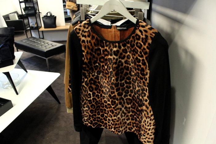 Whistles AW13 Leopard top