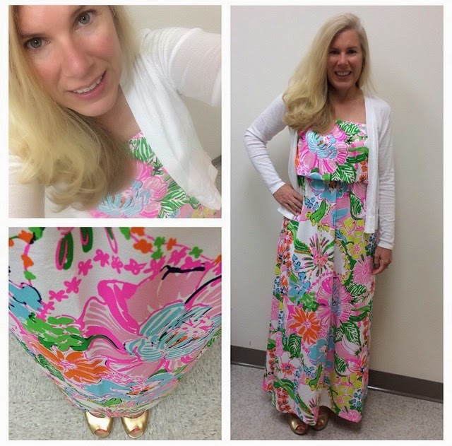 lilly pulitzer lilly for target maxi dress nosie posey blogger style