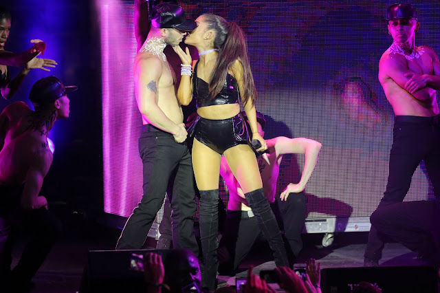 Ariana Grande kisses her new man, Ricky Alvarez
