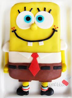 pasta di zucchero torta spongebob