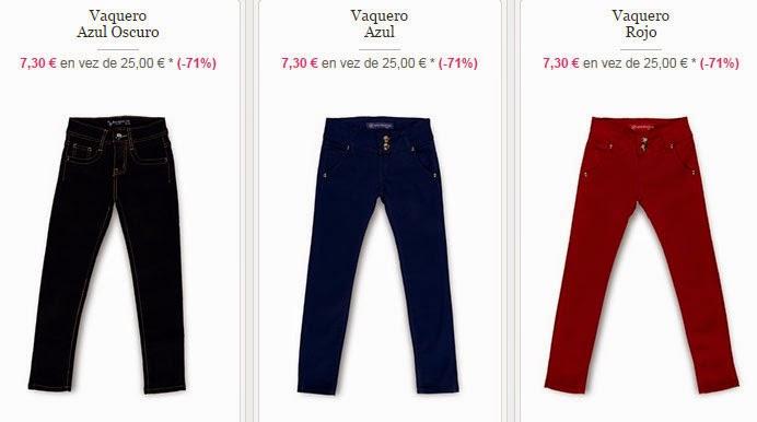 Algunos modelos de pantalones vaqueros por algo más de 7 euros