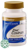 zinc complex shaklee, zinc shaklee, sembuhkan luka, atasi masalah rambut gugur